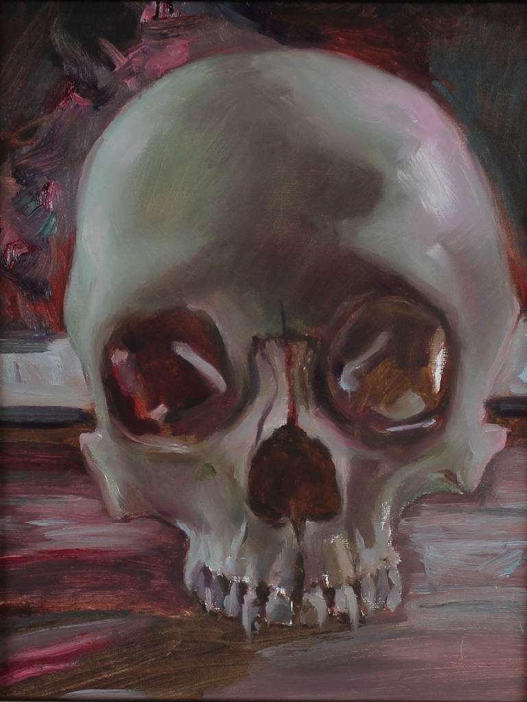 "Anthony Cramer - ""Window Skull"" - 8x10"", oil on linen panel"