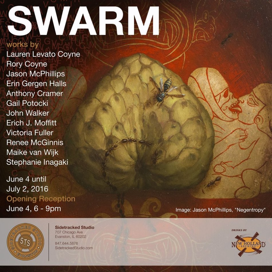 Swarm Promo - painting by Jason Mcphillips